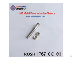 M8 Metal Face Inductive Sensors Cylinderial Proximity Sensor Switch Npn Pnp No Nc