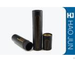 Black And White Paper Cardboard Cylinder Tubes For Wine Gift Packaging