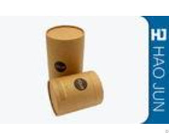 Hard Cardboard Cylinder Tube Packaging Recyclable Kraft Materials With Logo Printed