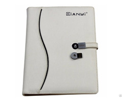 New Arrival Pu Leather Notebook With 8gb Usb Flash Drive
