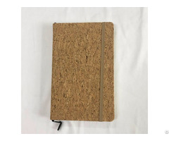 New Design Cork Wood Cover Paperback Notebook With Elastic Band