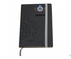 Custom A5 Pu Leather Cork Cover Journal Notebooks With Elastic Band