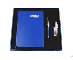 Newly Promotional Leather Loose Leaf Diarysk With Pen Business Set