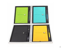 Promotional Leather Cover Executive Notebook And Pen Gift Set