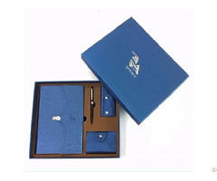 Business Gift Set With Pen Keychain Bag