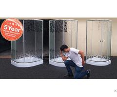 Misty Glass Shower Enclosure