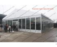 Temporary Movable Pvc Event Tent White Glass Walls Waterproof For Car Show