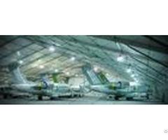 Aluminum Frame Aircraft Hangar Tent Temporary With Pvc Roof Lifting Door