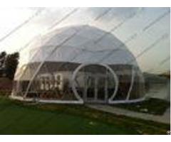 Large Aluminium Geodesic Dome Tent Pvc Professional Easy Transportation Trouble Free