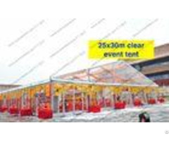 Transparent Roof Clear Span Tent 20m X 30m Glass Walls For Wedding Party