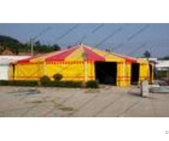 Yellow And Red Pagoda Party Tent Pvc Cover 30m Aluminum High Peak Multi Sides
