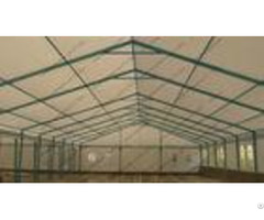 Blue Colored Portable Storage Tents Waterproof Steel As Semi Permanent Warehouse