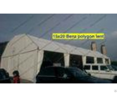 Light Weight Cover Polygon Tent 15m X 20m White Pvc Roof Mesh Window