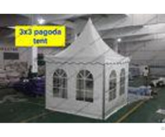Luxury Custom High Peak Tent 3 X 3m Small Size Flame Retardant Pvc Coated