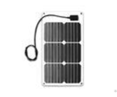 Photovoltaic Etfe Flexible Solar Panels 18w With White Surface And Junction
