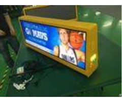 Moving Advertising Taxicab Led Video Screen Double Side High Brightness