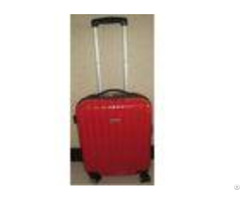 Plastic Handle Abs Pc Hard Shell Suitcase Luggage Bag Set With Oxford Cloth Lining