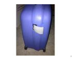 Pp Plastic Hard Case Bright Blue Suitcase Luggage Sets With Big And Universal Wheels