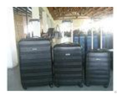Abs 3 Piece Luggage Set 4 Wheels 1 Zipper Framed With Silver Iron Trolley