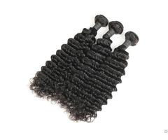 8a Brazilian Deep Wave Human Virgin Hair Weave 3 Bundles With Lace Frontal
