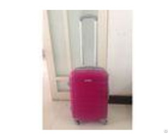Lightweight Trolley Cute Pink Luggage Sets Abs Waterproof 4 Wheels For Women