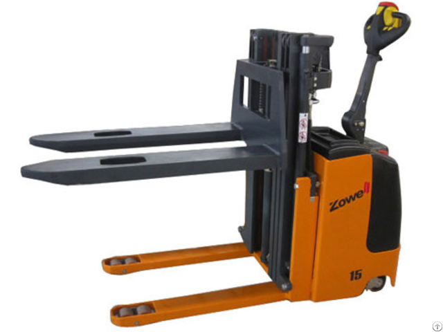 Electric Stacker With Ultra Low Height Mast
