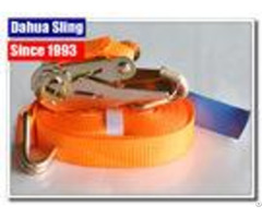 100% Polyester Fabric Ratchet Strap Hooks 25mm Width Lashing Tensioner