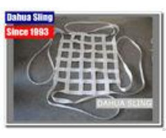 Durable White Web Cargo Net For Pickup Truck Bed 25mm 50mm Width