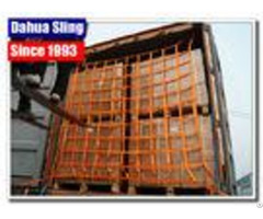 Flat Polyester Web Cargo Nets For Vans Customized Size Eco Friendly