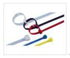 Releasable Nylon Industrial Cable Ties Multi Colored For Wire Locking