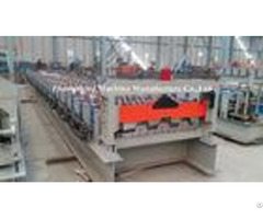 90mm Shaft Floor Deck Roll Forming Machine With 1 5 Inch Chains Transmission