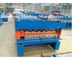 Professional Roofing Sheet Roll Forming Machine Double Chains Transmission