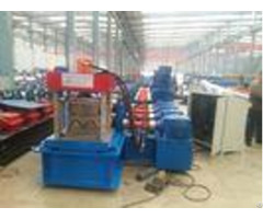 W Profile Gearbox Control Fast Way Gardrail Roll Forming Machine With Auto Cutting For 3 5mm Thickne