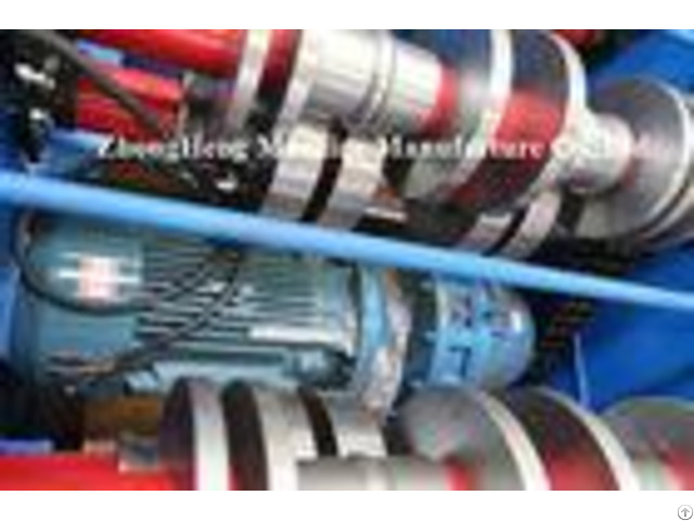 Galvanized Corrugated Roofing Sheet Roll Forming Machine Trapezoidal For R Panel