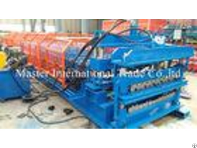 Full Automatic Double Glazed Tile Roll Forming Machine With Wave Pressing