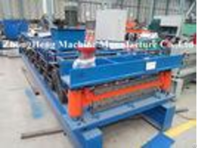 Cnc Sheet Roof Panel Roll Forming Machine With Hydraulic Cutting Touch Screen