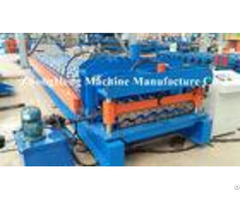 Roofing Sheet Roof Tile Roll Forming Machine With Hydraulic Cutting System