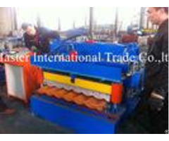 Hydraulic Control Glazed Tile Roll Forming Machine For Construction Metal Making
