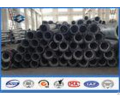 Straight Steel Power Pole Round Shape 10 550kv Metal Utility Poles Aaa Credit Rating