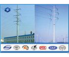 8m Angle Composite Utility Poles Galvanised Steel Pole 470 630 Mpa Tensile Strength