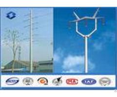 110kv Double Circuits Angle Electrical Power Pole For Distribution Line