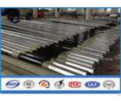 Low Voltage Tapered Steel Pole Galvanized Metal Posts With Bituminous Painting