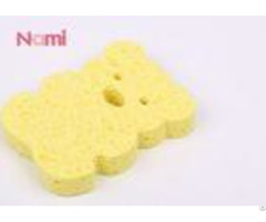 Yellow Animal Cellulose Bath Sponge Reusable Cleaning Body For Kids