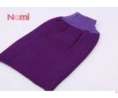 Purple Color Tan Remover Mitt Viscose Removing Dead Skin Custom Made