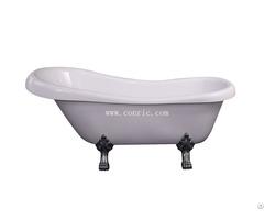 Classica Freestanding Bathtub With 4 Zinc Legs