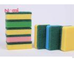Classic Green Scouring Pad Sponge Wear Resisant For Outdoor Cleaning