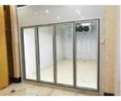 Transparent Glass Door Cold Freezer Room For Vegetable And Fruit Food Storage