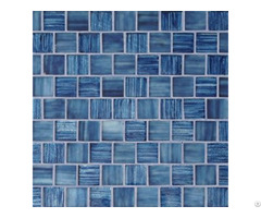 Top Quality New Design Popular Blue Square Glass Mosaic