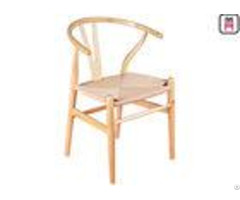 Hand Made Solid Wood Dining Room Chairs Oak Color Nordic Wishbone Y Chairwith Rope Seats