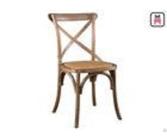 Wedding Event Romantic Wood Restaurant Chairs Rattan Seats French Style